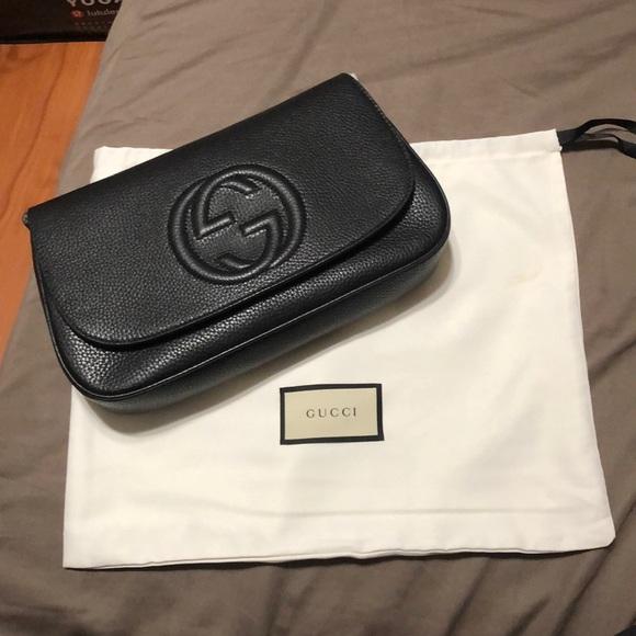 Gucci Handbags - Gucci Soho Leather Flap Shoulder Bag